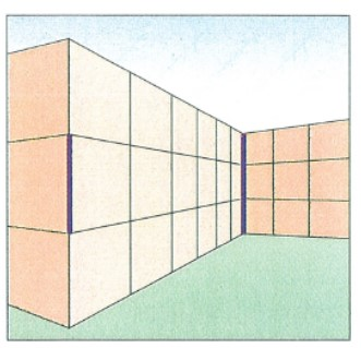 The Ponzo illusion. The two bold lines are the exact same length.