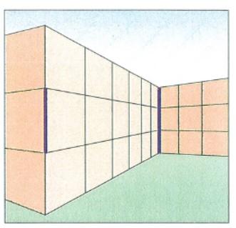 Ponzo-illusionen. De to fede streger er præcis same længde.